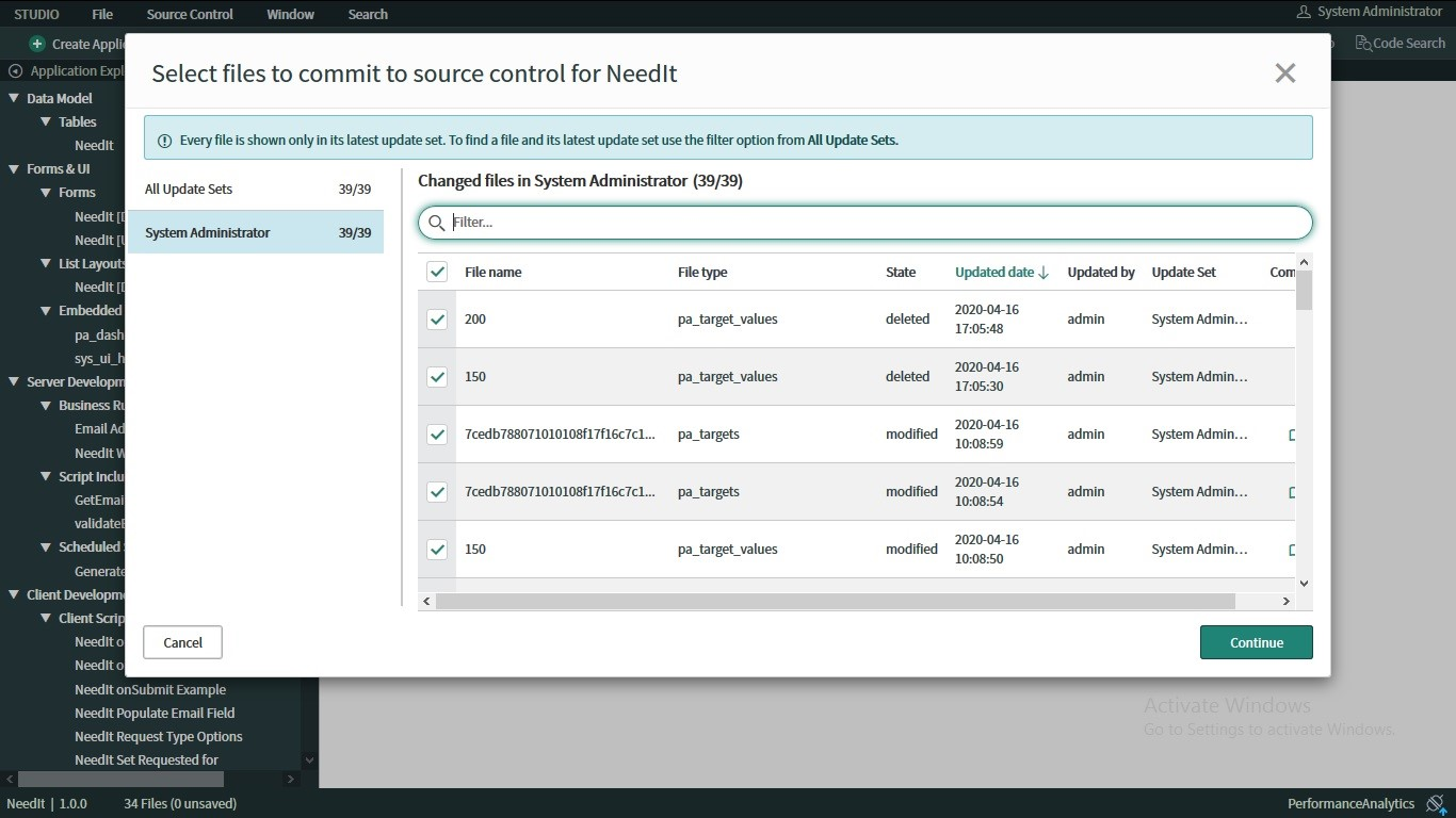 New Enhancements of ServiceNow Orlando Release - Source control