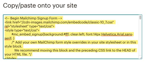 Mailchimp integration with saleforce copy