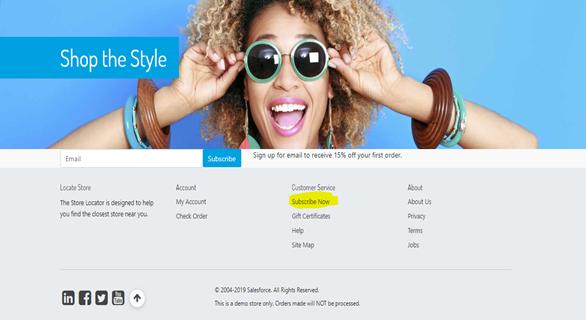 Mailchimp integration with saleforce – shop the style