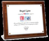 RoyalCyber- CIO 2015 Certificate