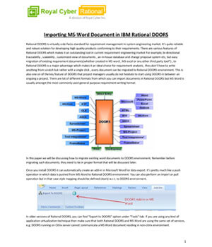 Importing a word document in Rational DOORS  sc 1 st  Royal Cyber & Importing a word document in Rational DOORS - Royal Cyber
