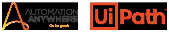 Automation Anywhere logo UiPath logo