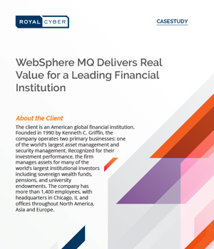 WebSphere MQ Delivers Real Value for a Leading Financial Institution case study